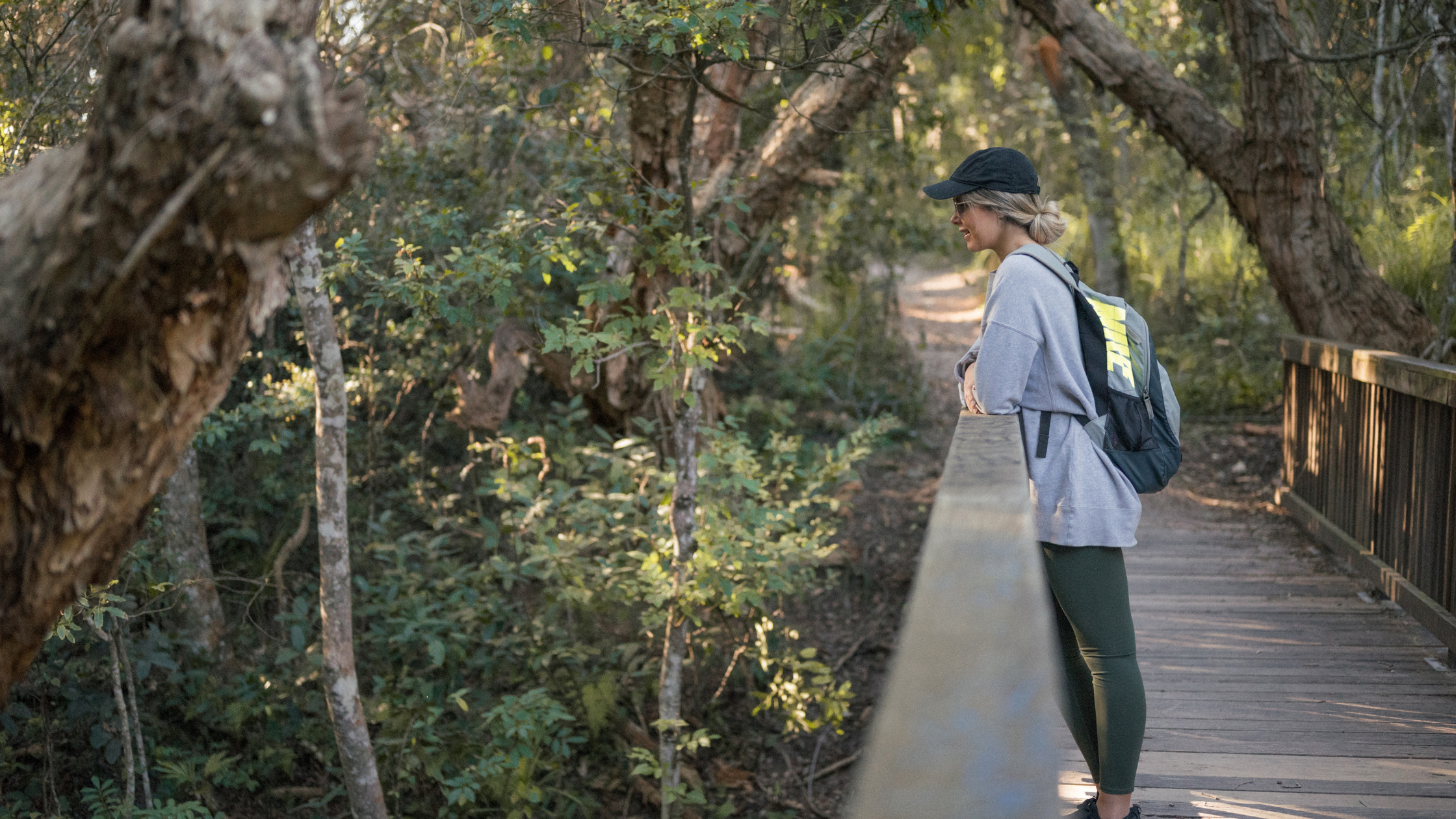 Image of a woman at Dooragan National Park in the NSW Greater Port Macquarie region