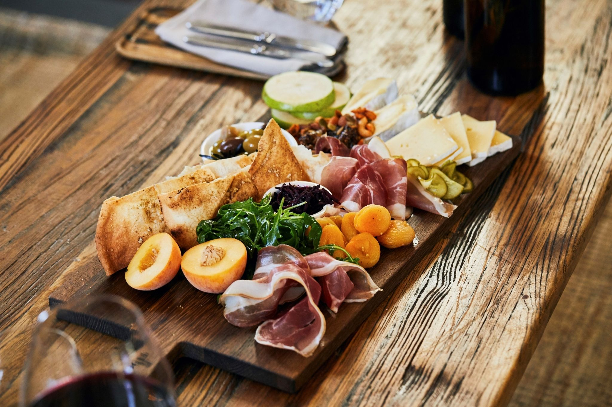 Image of a charcuterie plate at Lowe Wine in Mudgee NSW