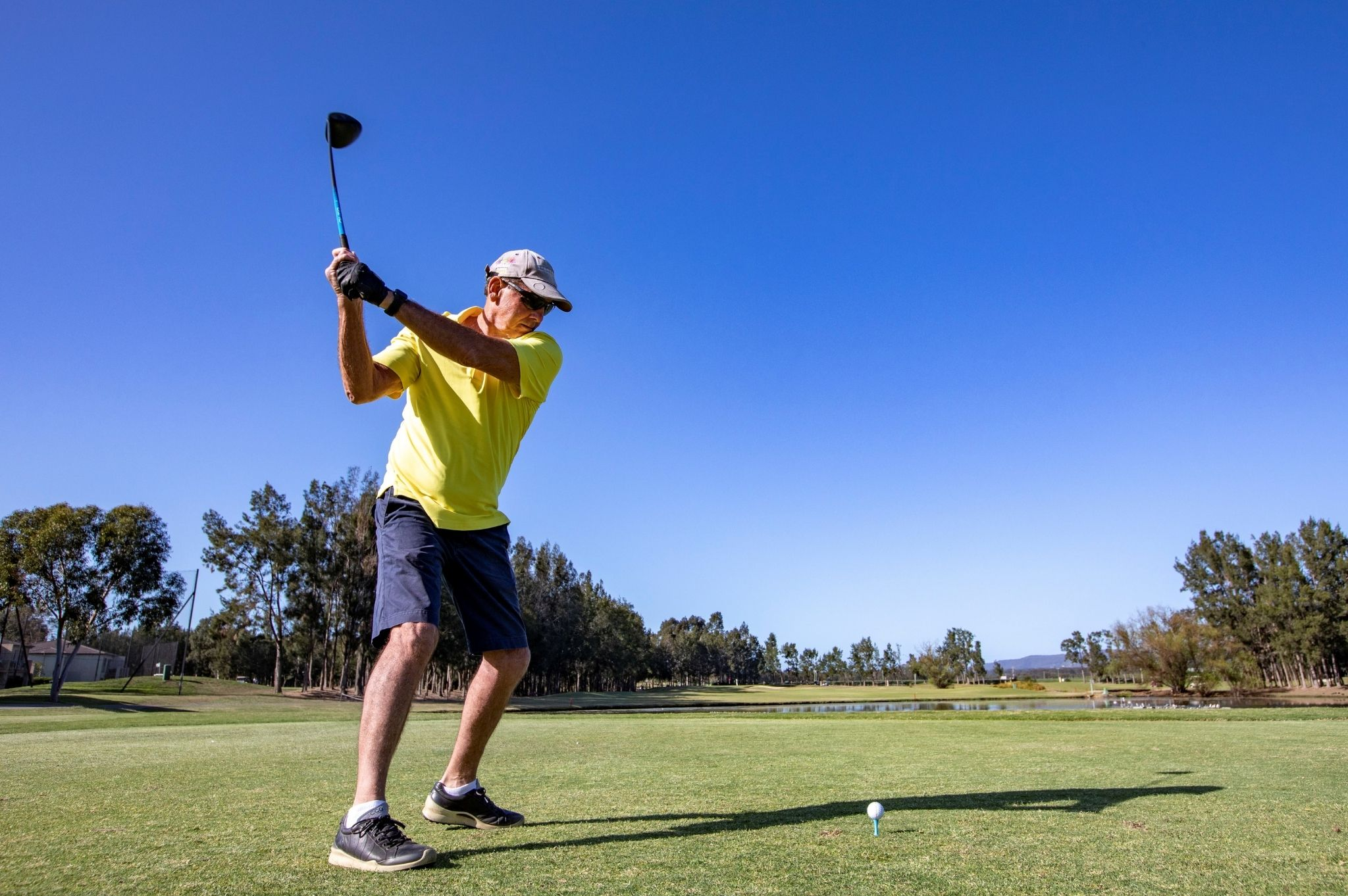 Image of a man on a golf course in NSW