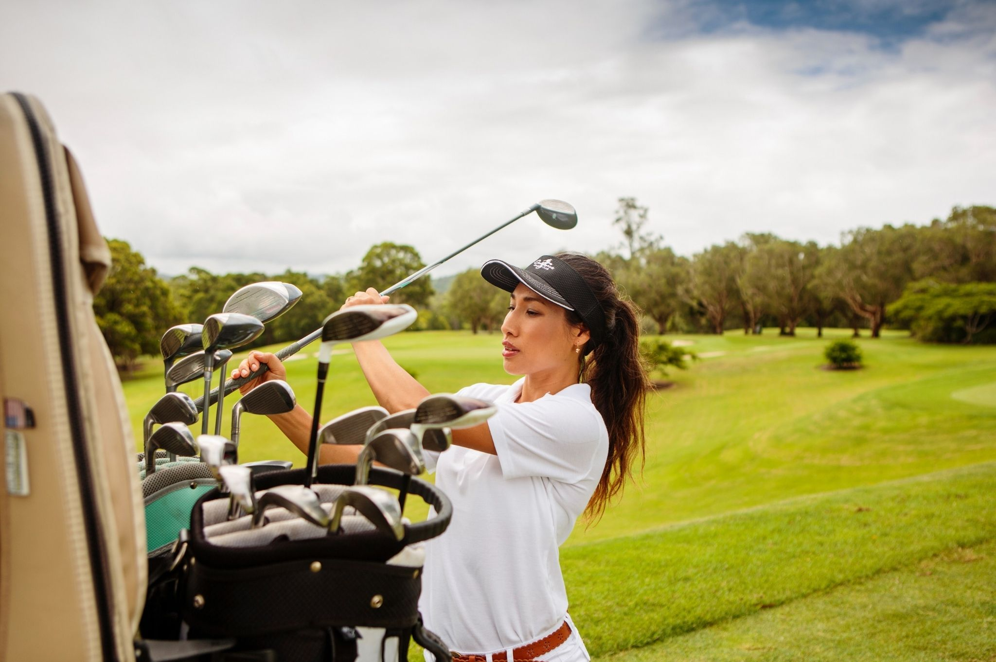 Image of a woman on a NSW golf course