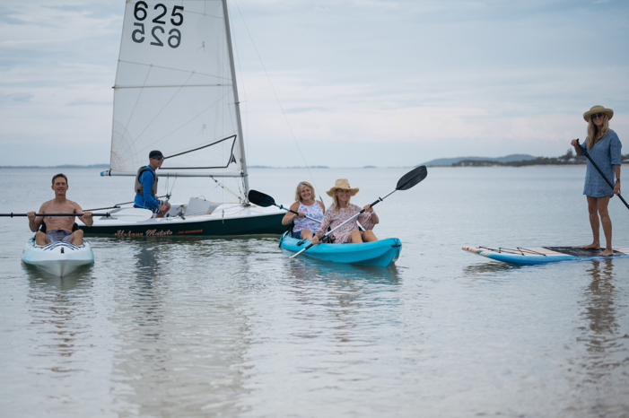 Image of people enjoying water sport activities at Reflections Holiday Parks Jimmys Beach