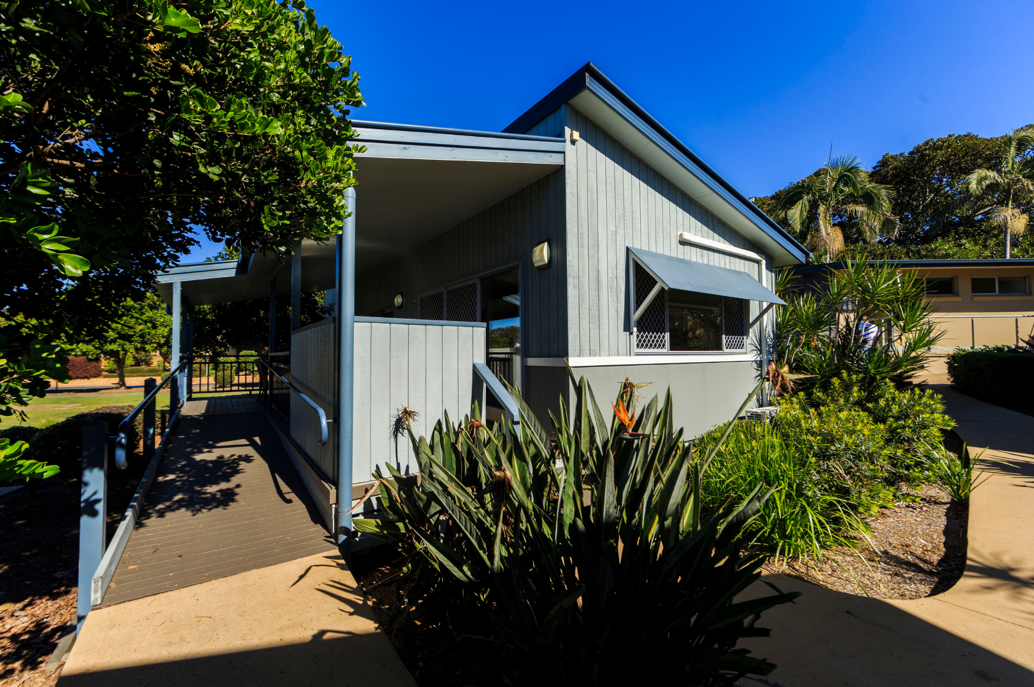Image of an accessible cabin at Reflections Holiday Parks Urunga